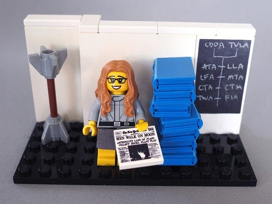 This is the prototype of Margaret Hamilton as a figurine