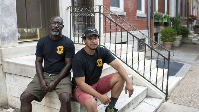 Two Locals Brewing owners Mengistu Koilor, left, and Rich Koilor in South Philadelphia.