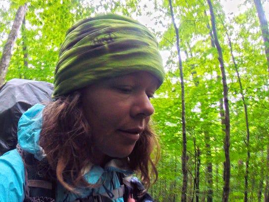 Yarrow Upton of Burlington hikes along the southern