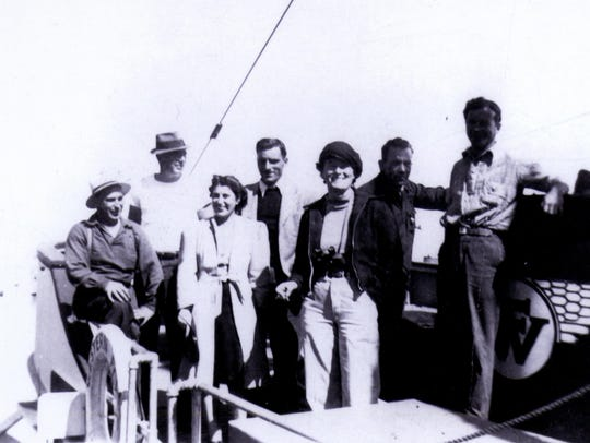 John Steinbeck, Ed Ricketts and family, friends and