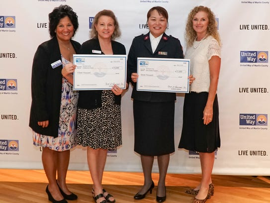 United Way of Martin County presented two grants to