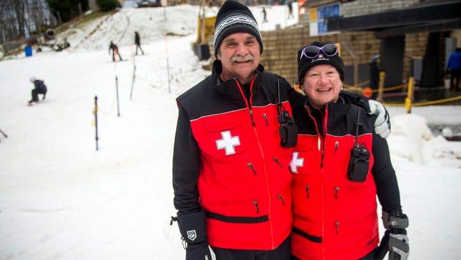 Peter and Joy Juker at Ober Gatlinburg on Saturday, Dec. 31, 2016.