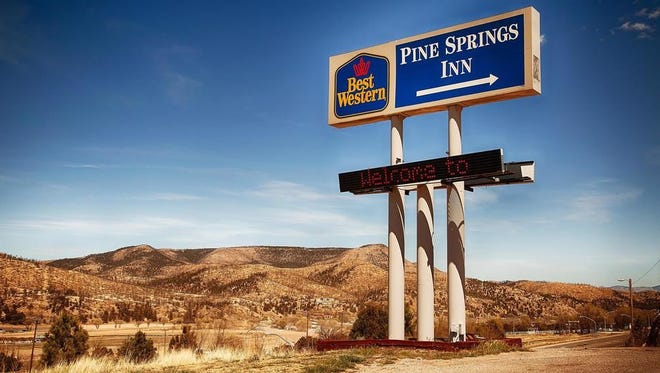The Pine Springs Inn in Ruidoso Downs was one of two Best Westerns robbed back to back here recently.