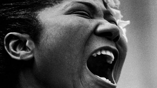 Mahalia Jackson sings at the 1963 March on Washington. Her powerful gospel voice became a soundtrack for the civil rights movement.