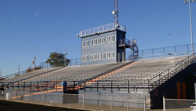 Galion's new three-story press box at Unckrich Stadium.