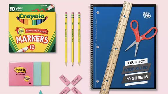 Grab dorm and school supplies on sale at Target.