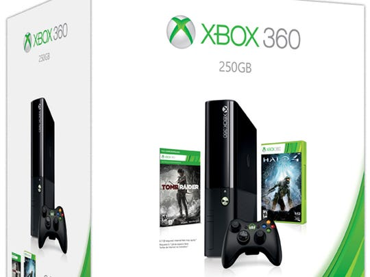 This year's Xbox 360 Holiday Bundle includes a 250 GB system, 'Halo 4' and a download token for 'Tomb Raider.'