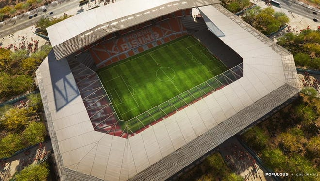 Phoenix Rising FC wants to build a $250 million soccer stadium with private financing.