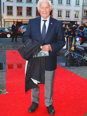 From May 11 2014, French former head coach of the French national team Michel Hidalgo arrives at the 23rd edition of the National Union of Professional Soccer (UNFP) Awards in Paris. Hidalgo took charge from 1976-84 and led France to its first major title at the European Championship in '84. The French Football Federation said on its website that Hidalgo died on Thursday March 26, 2020. He was 87.