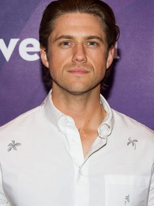 Aaron Tveit arrives at the NBCUniversal New York Summer Press Day event at The Four Seasons Hotel on Wednesday, June 24, 2015, in New York.
