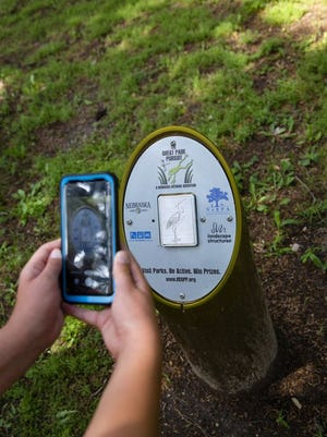 The Great Park Pursuit encourages participants to find posts placed at official park sites across the state.