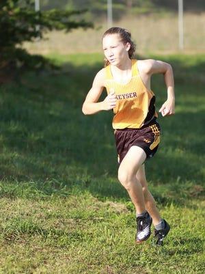 Keyser's Griffin Paugh led the Keyser boys, finishing second overall. Photo courtesy of Jennifer Everline