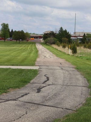 The current asphalt path at RVMS/HS is going to be replaced.