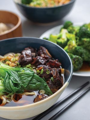 Sweet-and-sour pork rib noodle soup