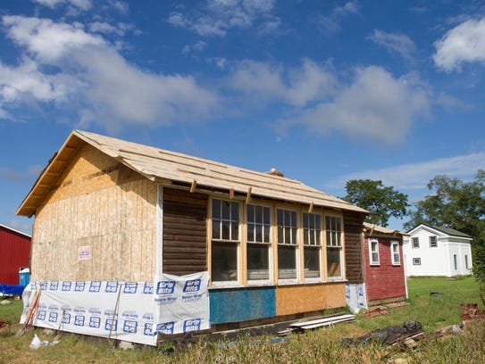 The Hicks schoolhouse has been moved from its original