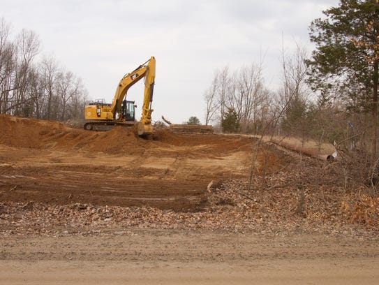 Land is cleared west of Hinchey Road in Putnam Township
