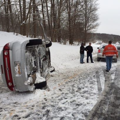 A car rolled over on the Sprain Brook Parkway northbound
