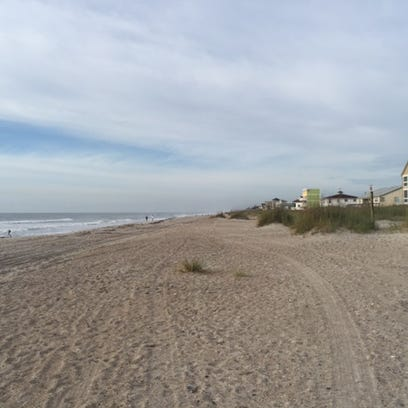 Skeletal remains were found on the beach Tuesday morning,