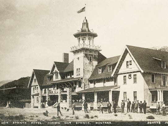 Corwin Hot Springs, built in 1909, was inspired by