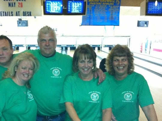 From left: Bill Brown, Michele Brown, Ray Juriga, Patty Juriga and Donna Barker loved to bowl.