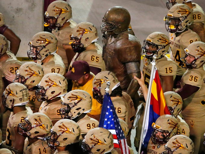 Arizona State football players wore special uniforms