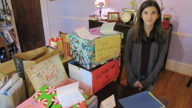 Sophie Kartzman of Big Flats will again lead a campaign to collect greeting cards to be sent to active military and veterans. The campaign goal is 15,000 cards.