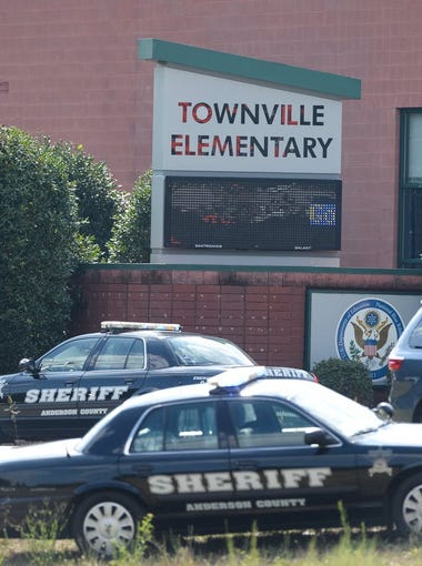 At least three people have been injured in connection with a shooting at Townville Elementary School in Anderson County, according to Medshore Ambulance Service.