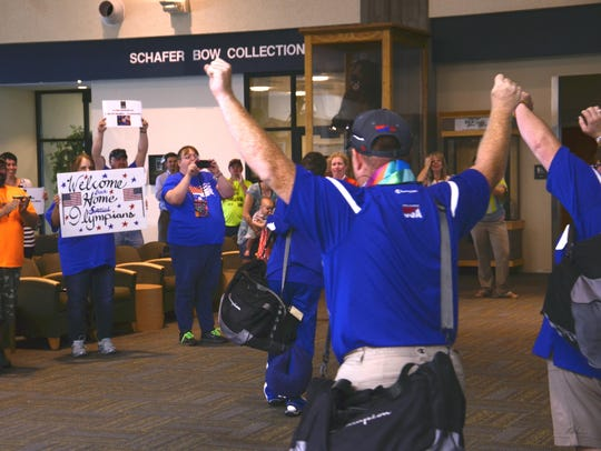 Montana's Special Olympics athletes were greeted with