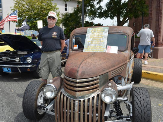 Mike Andrezzi of Mantua displayed his Vietnam Tribute Truck at the Downtown Millville Car Show on Aug. 8. Vietnam veterans are invited to sign the truck, and the tailgate is devoted to fallen brothers.