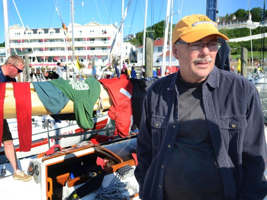 Terry Vigrass, owner of Tantrum, talks about the race on Mackinac Island after the 2016 Port Huron-to-Mackinac Island Sailboat Race.