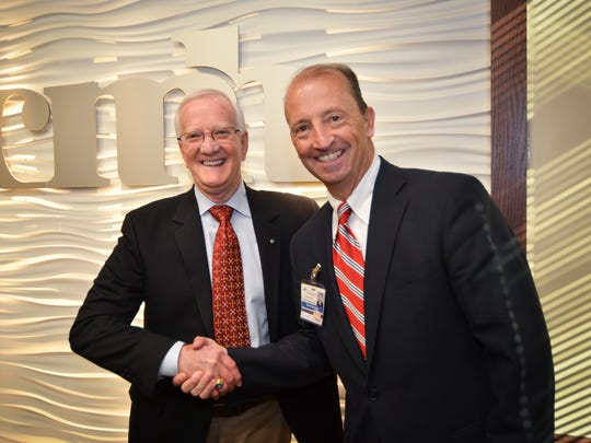 Don Babb, chief executive officer/executive director of CMH, and Steve Edwards, president and CEO of CoxHealth, held a press conference Friday.