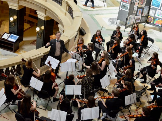 Wauwatosa East orchestra at State Capitol