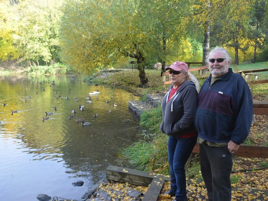 Brian Davis and Samantha Boice, both of Aurora, go to Canby Community Park almost every day for the walking, scenery and the wildlife.