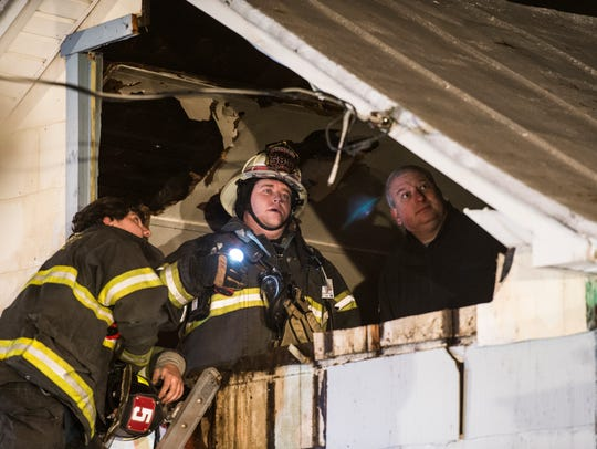Fire crews extinguished a room and contents fire at