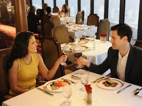 With French-inspired, gourmet cuisine by two award-winning chefs, Remy on the Disney Fantasy and Disney Dream offers a sophisticated and elegant dining experience exclusively for adult guests in an exquisite, top-deck restaurant with incredible ocean