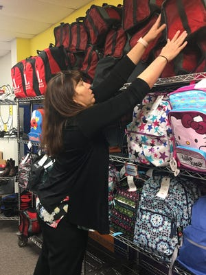 The Junior League of San Angelo provided 100 backpacks and 100 duffel bagsfilled with personal itemsto the Rainbow Room, which stocks emergency and household materials for abused and neglected children.