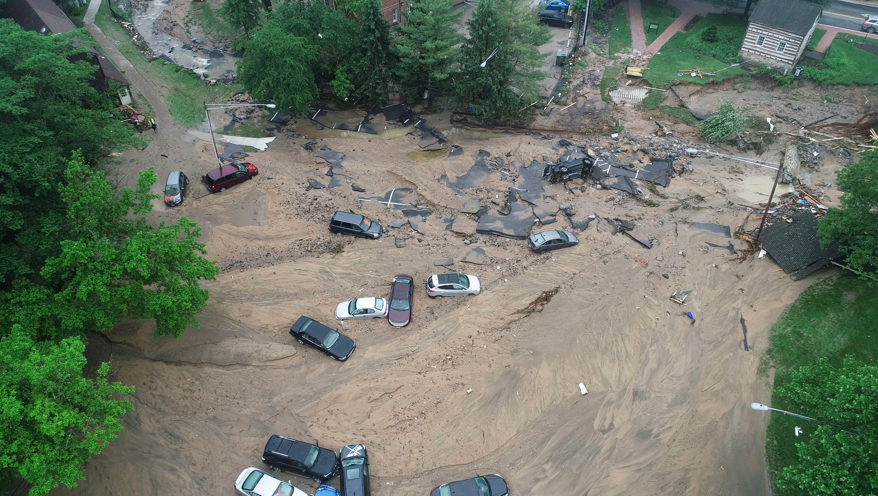 Flash flood devastates historic Maryland town