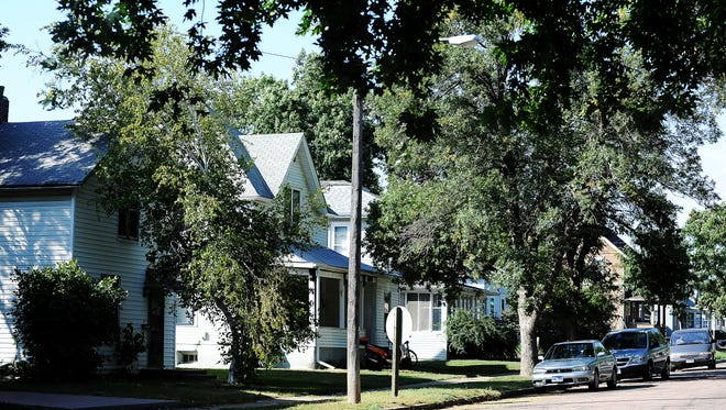 Houses in the Pettigrew Heights neighborhood in Sioux Falls on Wednesday, Sept. 18, 2013. (Joe Ahlquist / Argus Leader)