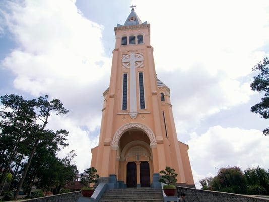 The old Cathedral in Dalat, Vietnam