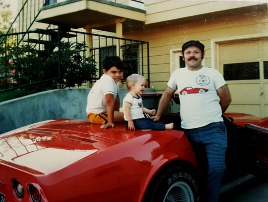 Lisa Ennor with her father, Paul, and her brother, Marty in 1982.