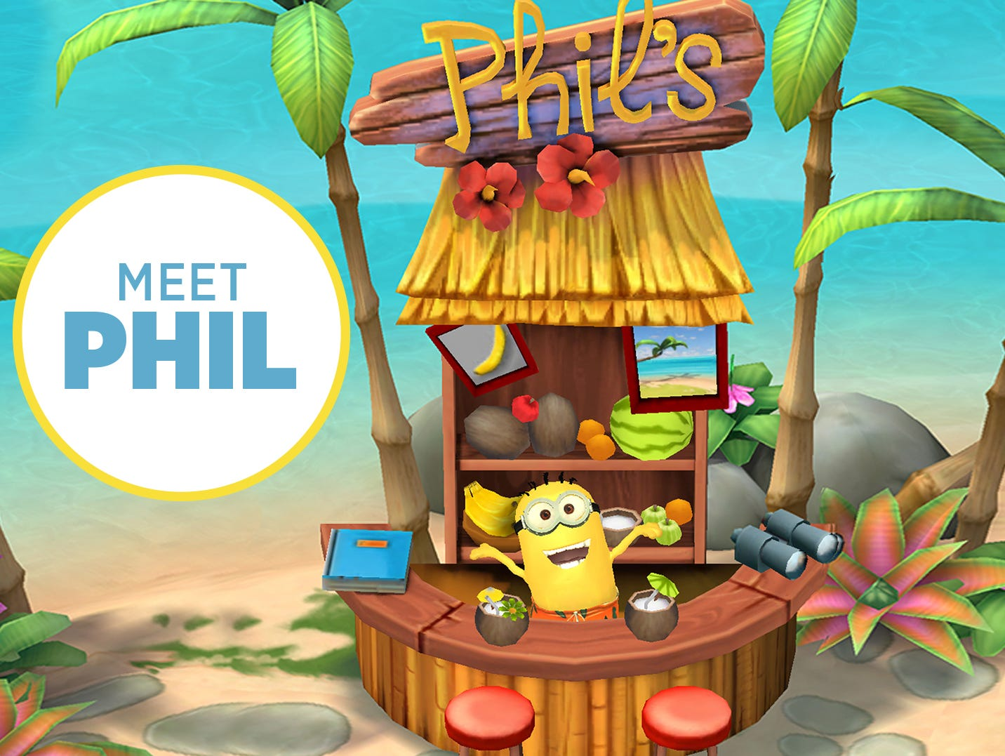 A screen shot from the upcoming video game 'Minions Paradise.'