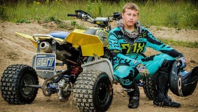 Brayden Bonsall, 19, died Saturday, July 2, 2016, when he crashed his ATV at Breezewood Proving Grounds Motorcross & ATV Park in Bedford County, officials said.  (Photo courtesy of Ewing Brothers Funeral Home in Carlisle)