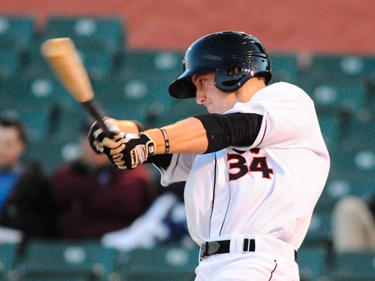 Last season, Conor Bierfeldt hit .196 with 12 home runs and 67 RBI in 111 games with Delmarva.