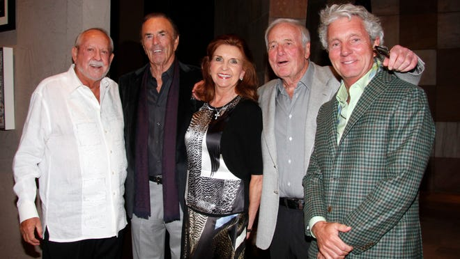 From left: R.D. Hubbard, Dennis and Phyllis Washington, Jerry Weintraub and Greg Renker.