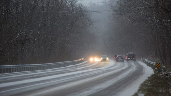 More than 13 crashes were reported on Jefferson County highways Monday morning due to slick and untreated roads.