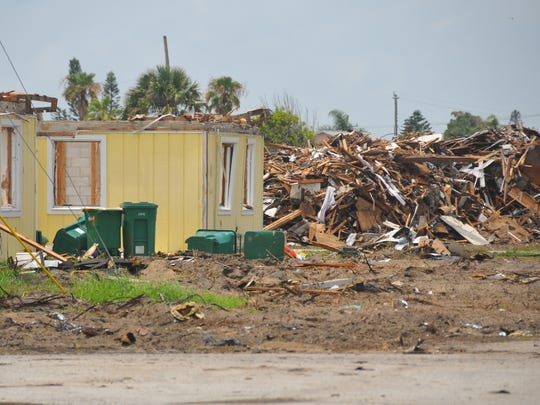 Excavators reduced much of the Satellite Shores housing development to rubble last month.