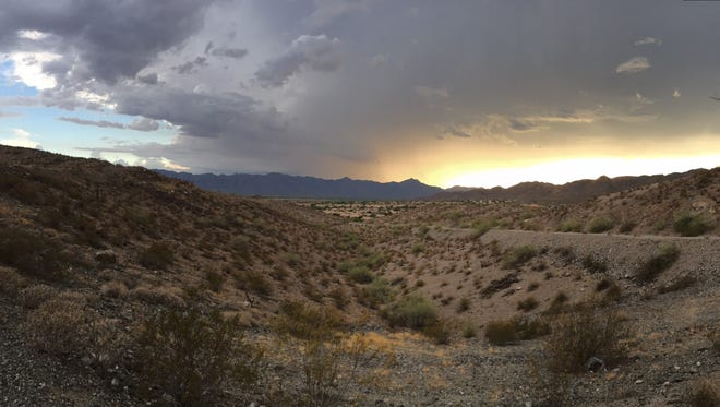 The view from the Ahwatukee area on July 1, 2016.