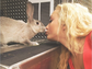 Disney Channel star Peyton List bonded with her new rabbit, Claude, in between filming scenes for her latest film.