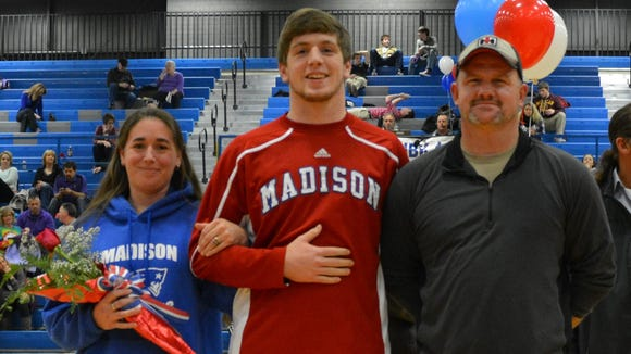 Madison's Dylan Hilemon and his family.