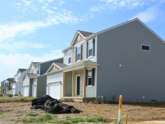 Developers continue to add new homes in Pataskala, including this home and its neighboring homes behind the Kroger complex on Broad Street.